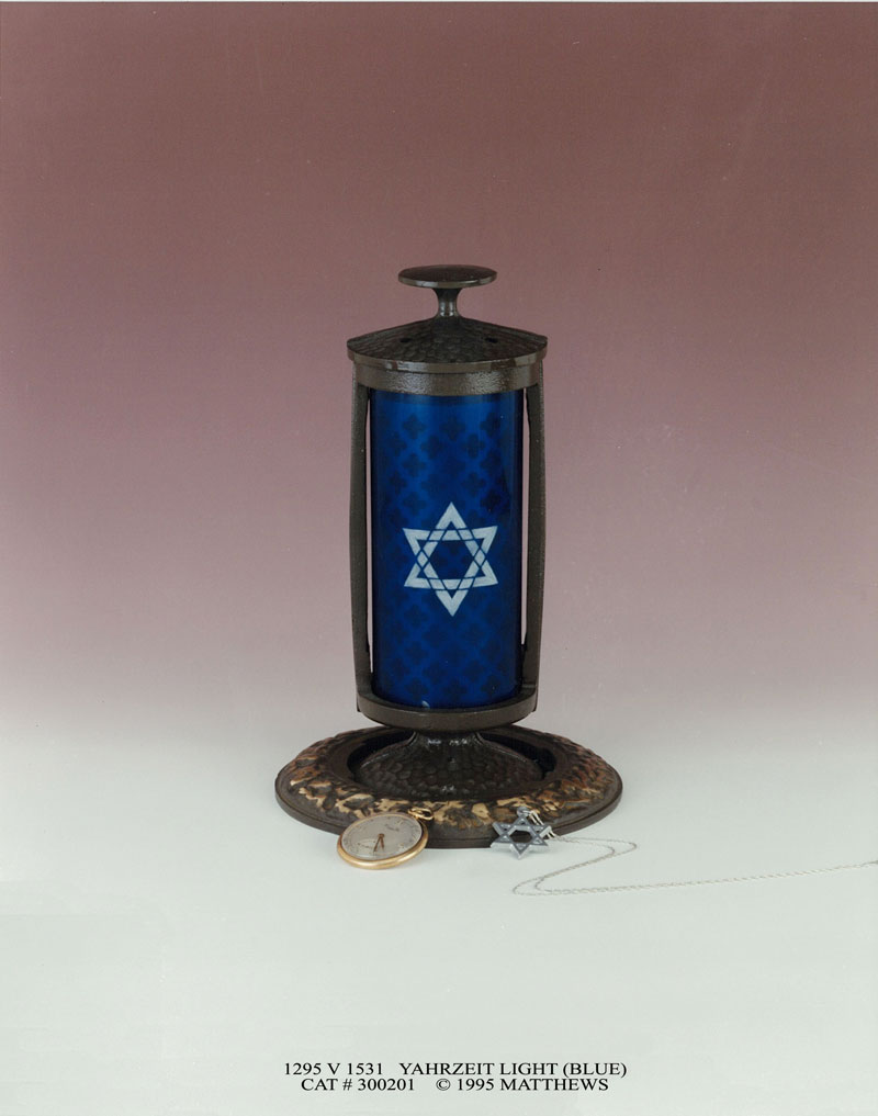 blue memory light with Star of David